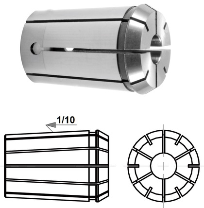 COLLET OZ32 ID=13 mm CLASS A RUNOUT 0.01 mm