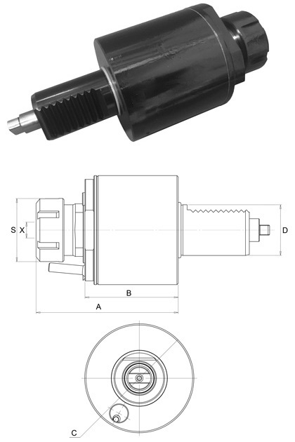 VDI40 DIN1809 AXIAL TAPPING HEAD ER20
